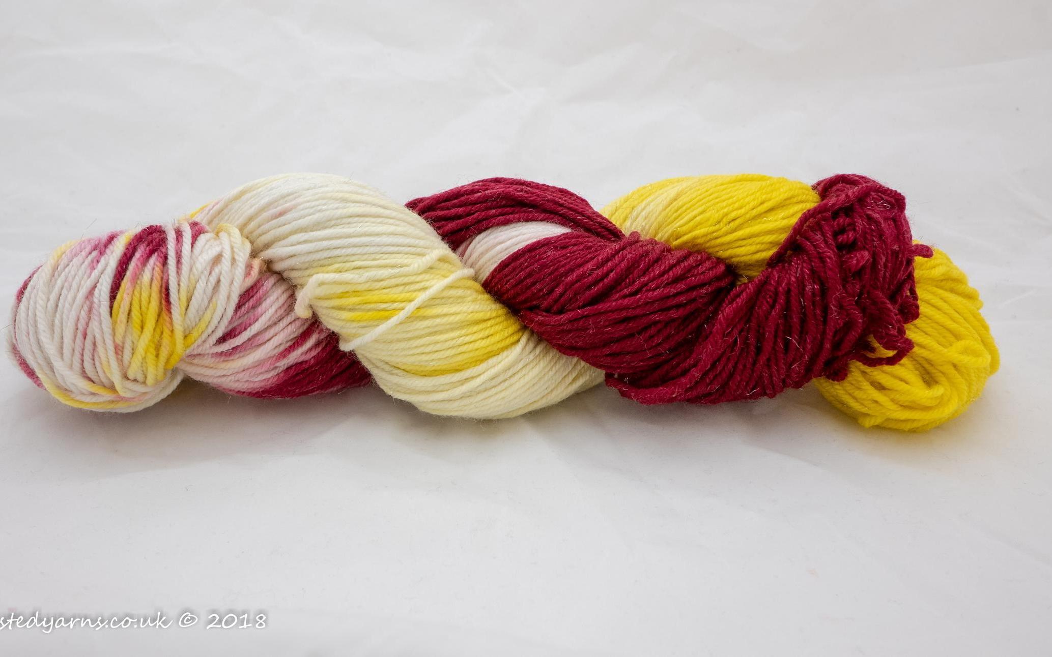 Luke/'s Pink Reindeer Hand Dyed Merino Chunky Yarn